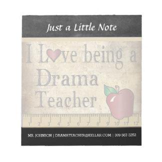 Drama Teacher   Vintage Style Notepad