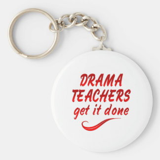 Drama Teachers Basic Round Button Key Ring