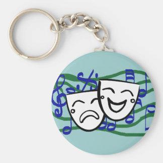 Drama: the Musical Basic Round Button Key Ring