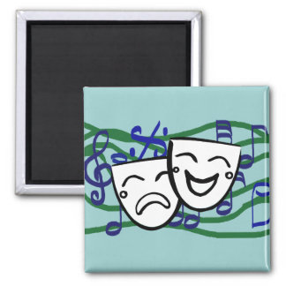 Drama: the Musical Square Magnet