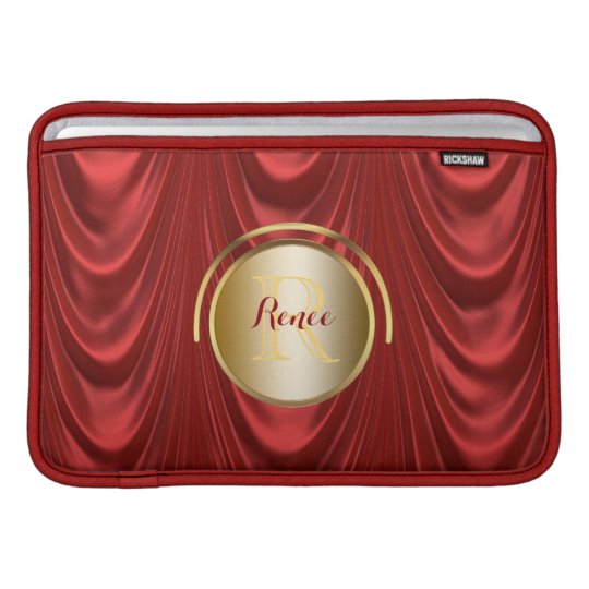 Drama Theatre Stage Curtains | Theatre Monogram MacBook Sleeve