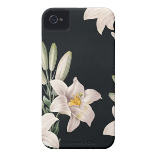 Dramatic Black and White Lilies iPhone 4 Case