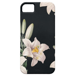 Dramatic Black and White Lilies iPhone 5 Cases