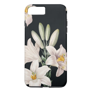 Dramatic Black and White Lilies iPhone 7 Plus Case