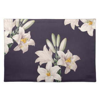 Dramatic Black and White Lilies Placemat