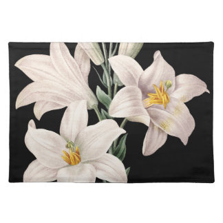 Dramatic Black and White Lilies Placemats
