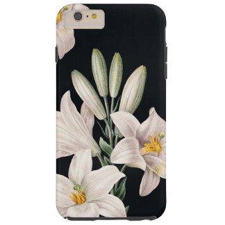 Dramatic Black and White Lilies Tough iPhone 6 Plus Case