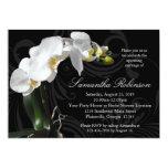 Dramatic Black w/ Orchid Bridal Shower Invitations