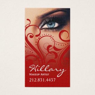 Dramatic Blue Eyes Makeup Artist | red