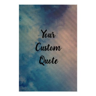 Dramatic Chilled Striped Personalised Quote Print