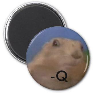 Dramatic chipmunk - q 6 cm round magnet