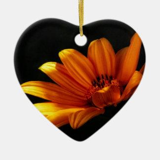 Dramatic Daisy ~ Floral Design Ceramic Heart Decoration