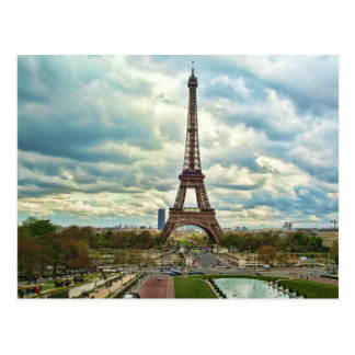 Dramatic Eiffel tower Postcard