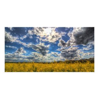 Dramatic Farm Sky Personalised Photo Card