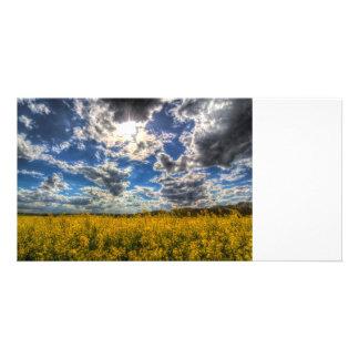 Dramatic Farm Sky Photo Card Template