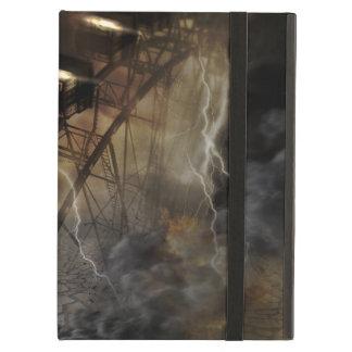 Dramatic Ferris Wheel Falls in a Lightning Storm iPad Air Cover