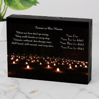 Dramatic Field of Candles Those We Love Memorial Wooden Box Sign