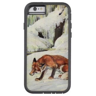 Dramatic fox in snow iPhone case