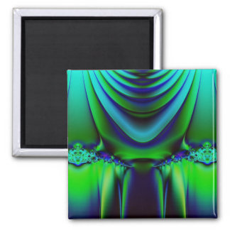 Dramatic Fractal Square Magnet