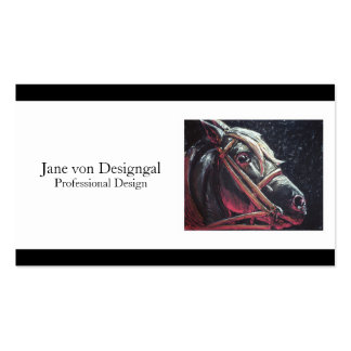 Dramatic Horse Pack Of Standard Business Cards