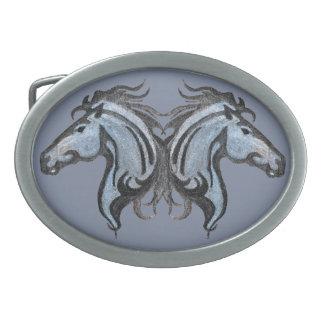 Dramatic Horse Design Belt Buckle