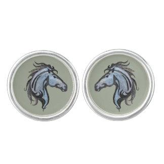 Dramatic Horse Design Cuff Links
