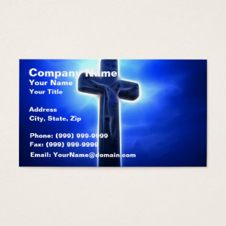 Dramatic Jesus Crucifixion Business Card