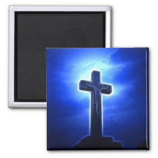 Dramatic Jesus Crucifixion Square Magnet