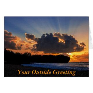 Dramatic Kauai Sunrise Card