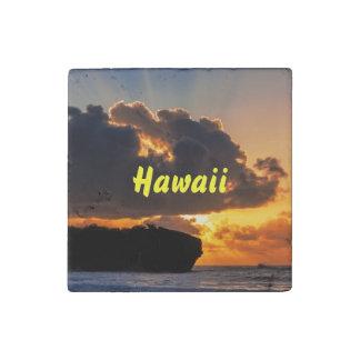 Dramatic Kauai Sunrise Stone Magnet Stone Magnet