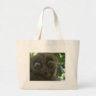 Dramatic Lemur Large Tote Bag