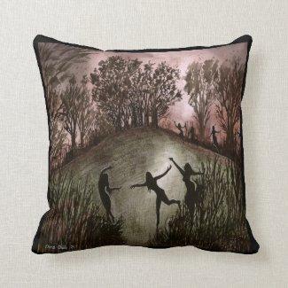 Dramatic Moonlight Dance Cushion Throw Pillow