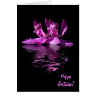 Dramatic Orchid Birthday Card