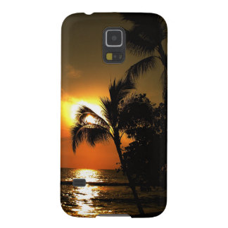 Dramatic Palm Tree Beach Hawaii Galaxy S5 Case