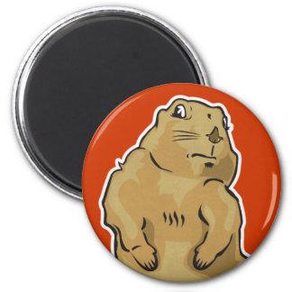 Dramatic Prairie Dog 6 Cm Round Magnet
