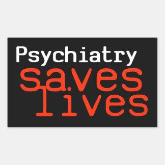 Dramatic Pro-Psychiatry Sticker (Rectangular)