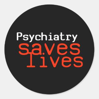 Dramatic Pro-Psychiatry Sticker (Round)