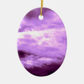 Dramatic Purple Sky Ceramic Oval Decoration