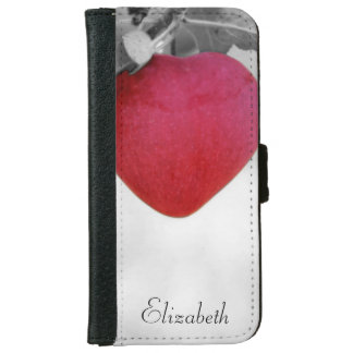 Dramatic Red Heart Shaped Apple iPhone 6 Wallet Case