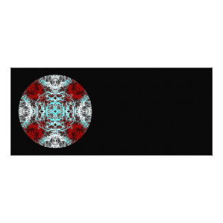Dramatic Round Pattern Red and Turquoise Announcement