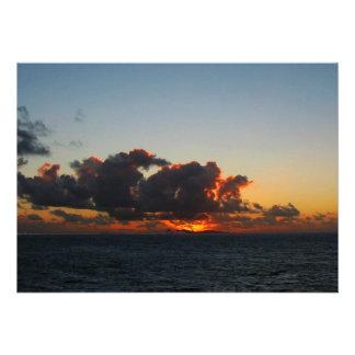 Dramatic Sea Sky at Dawn Personalized Invitation