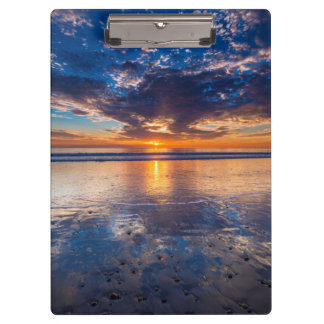 Dramatic seascape, sunset, CA Clipboards