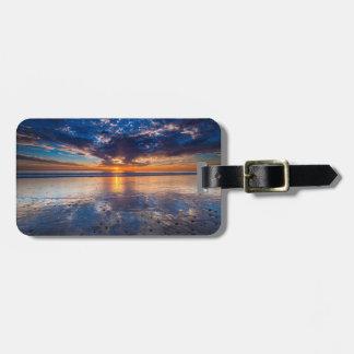 Dramatic seascape, sunset, CA Luggage Tag