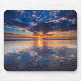 Dramatic seascape, sunset, CA Mouse Mat