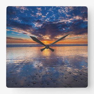Beach Sunset Wall Clocks Zazzle Uk