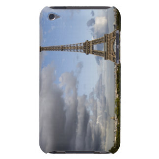 dramatic sky behind Eiffel Tower Barely There iPod Cases