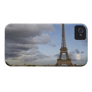 dramatic sky behind Eiffel Tower iPhone 4 Cover