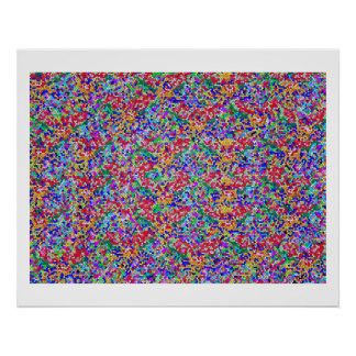 Dramatic Sky High Energy Color Theraphy Jewel Poster