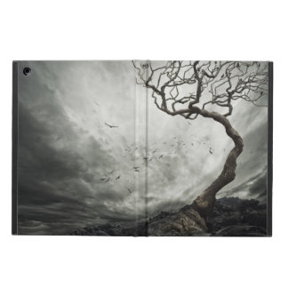 Dramatic sky over old lonely tree iPad air case