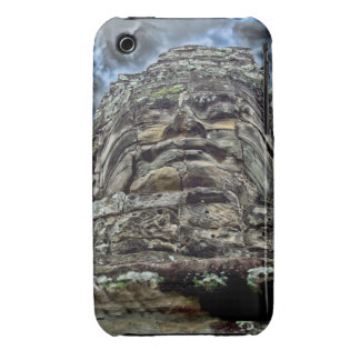 Dramatic Stone Face iPhone 3 Covers